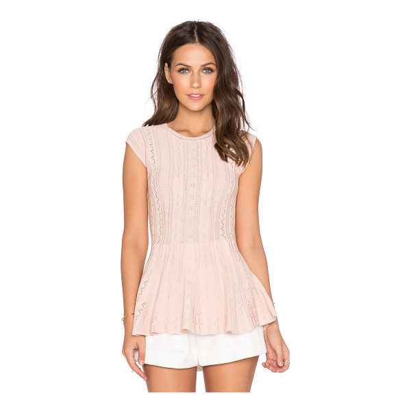 RONNY KOBO Genevieve top - Cotton blend. Dry clean only. Jacquard fabric. RONR-WS187....