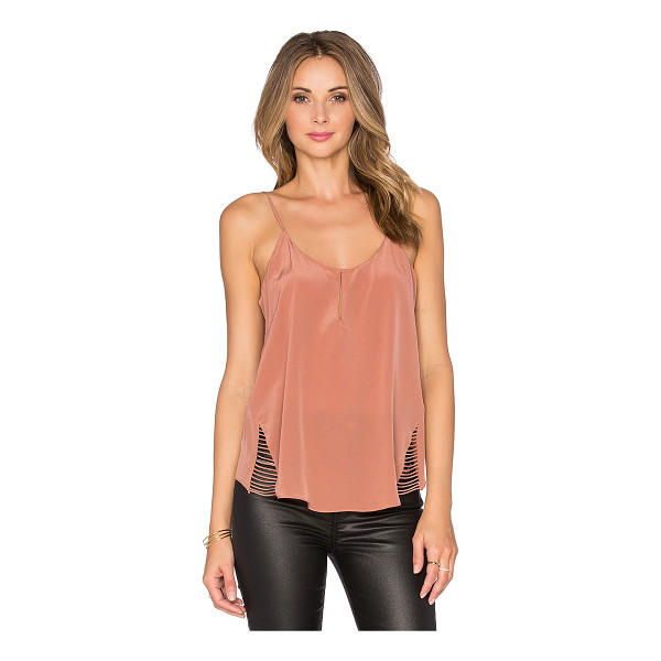 RORY BECA Mirja Tank - Silk blend. Dry clean only. Front hook closure. Adjustable...
