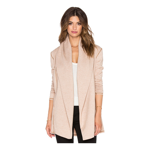 SAINT GRACE Hooded cardigan - 62.5% poly 33.5% rayon 4% lycra. Open front. Attached hood....