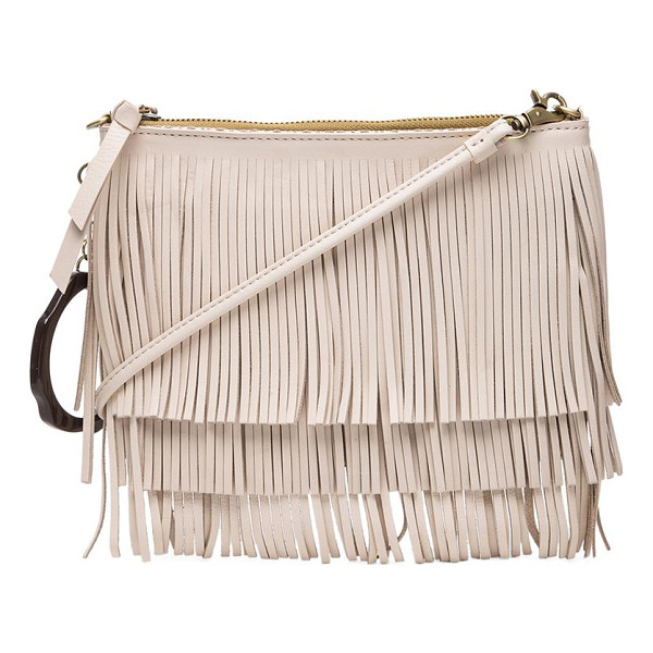 SAM EDELMAN Clover fringe pouch - Woven fabric exterior with fabric lining. Measures approx...