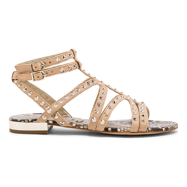 SAM EDELMAN Demi sandal - Leather upper with man made sole. Ankle strap with buckle...