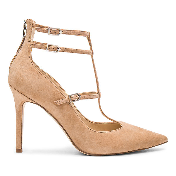 SAM EDELMAN Hayes Heel - Suede upper with man made sole. Back zip closure. Side