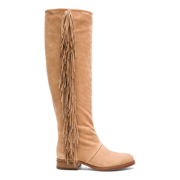 SAM EDELMAN Josephine boot - Suede upper with rubber sole. Fringe detail. Shaft measures...