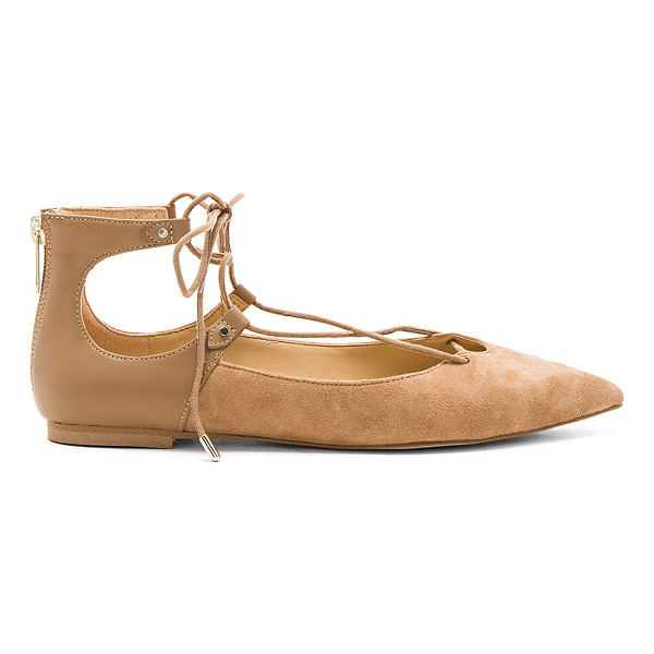 SAM EDELMAN Rosie Flat - Suede and faux leather upper with man made sole. Lace-up