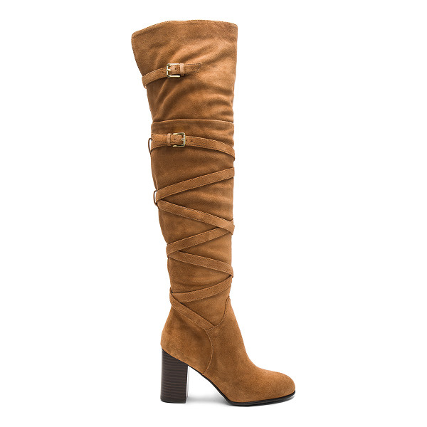 SAM EDELMAN Sable Boot - Suede upper with man made sole. Side zip closure. Wrap