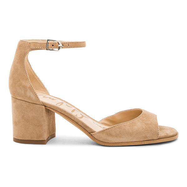 SAM EDELMAN Susie Heel - Suede upper with man made sole. Ankle strap with buckle...