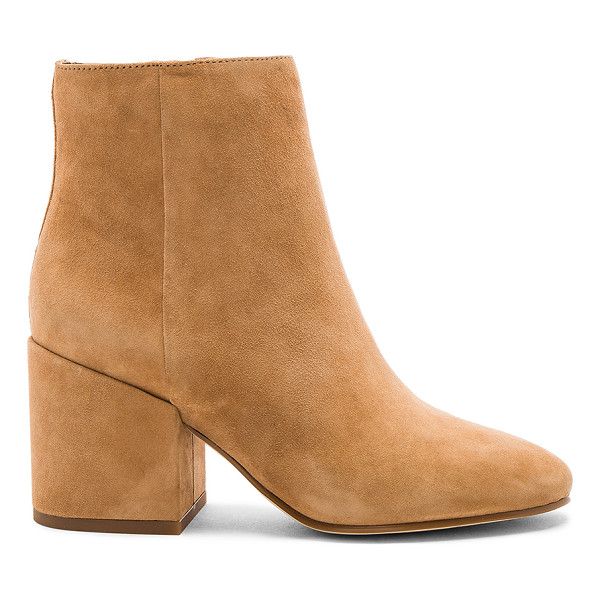 SAM EDELMAN Taye Bootie - Suede upper with man made sole. Side zip closure. Heel