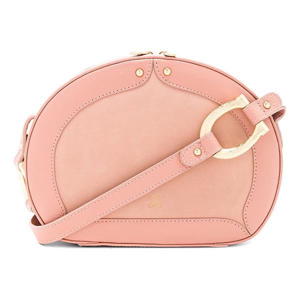 SANCIA Sistelo Crossbody - Suede and leather exterior with jacquard fabric lining. Zip...