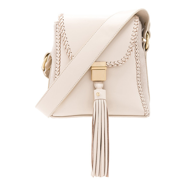 SANCIA The Milla Braid Bag - Leather exterior with canvas lining. Flap top with push...