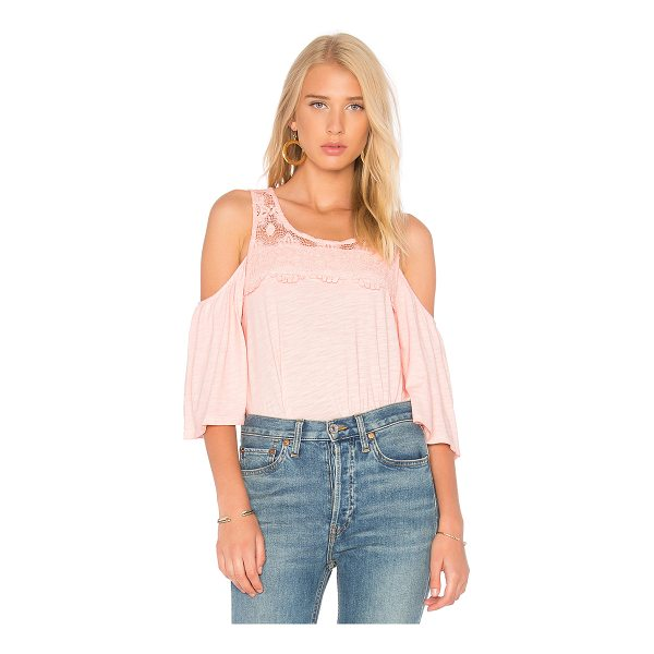 SANCTUARY Aria Top - Self: 55% cotton 45% rayonContrast: 100% cotton. Shoulder...