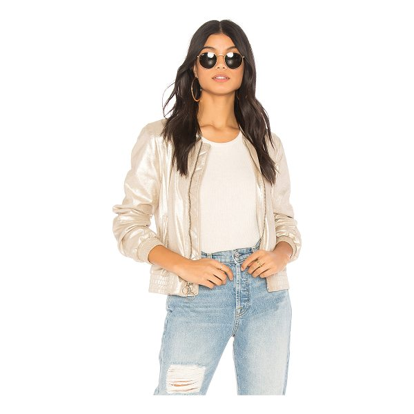 SANCTUARY Cool Gang in the Town Jacket - Poly blend. Dry clean only. Front zipper closure with ring...