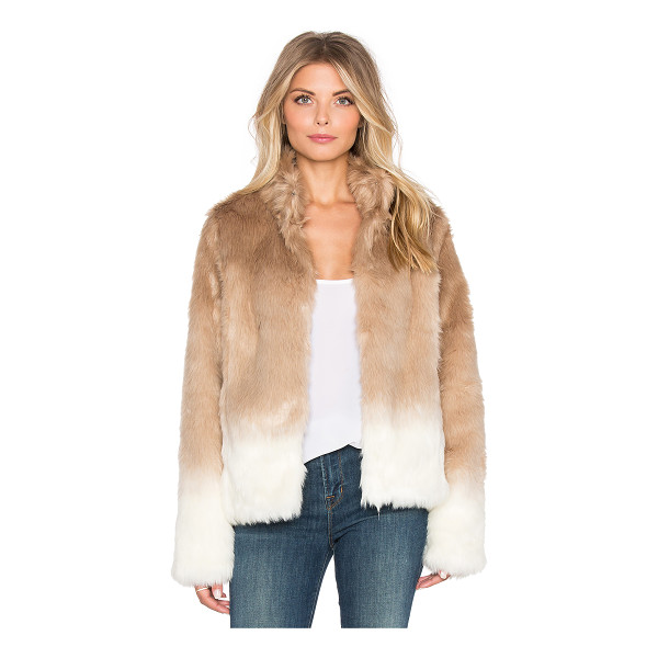 SANCTUARY Faux fur chubby funnel neck bomber - Self: 64% acrylic 36% polyLining: 87% poly 11% rayon 2%...