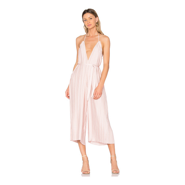 """SAYLOR Sonia Jumpsuit - """"Poly blend. Dry clean only. Halter strap ties around neck...."""