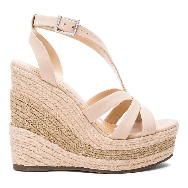 SCHUTZ Daenerys Wedge - Suede upper with man made sole. Ankle strap with buckle