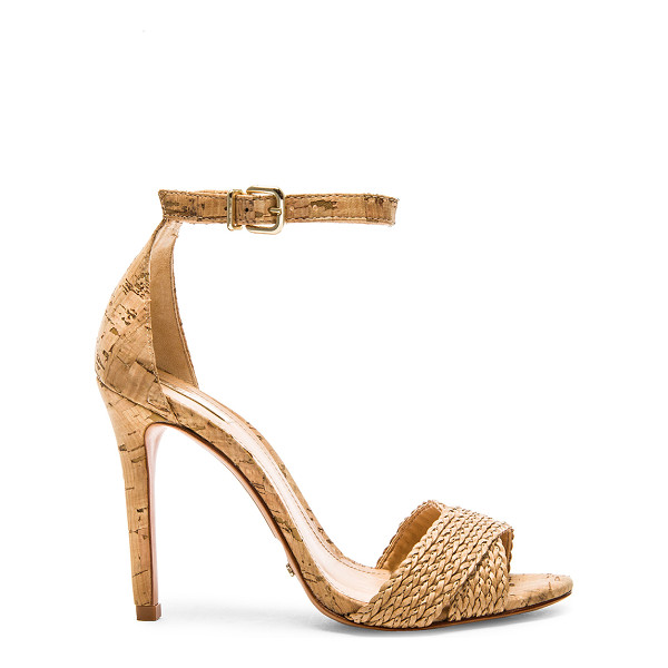 SCHUTZ Drauzia Heel - Woven leather upper with leather sole. Heel measures approx...