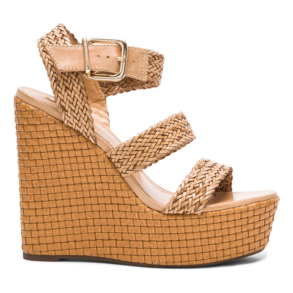 SCHUTZ Eikel wedge - Woven straw upper with rubber sole. Wedge measures approx...