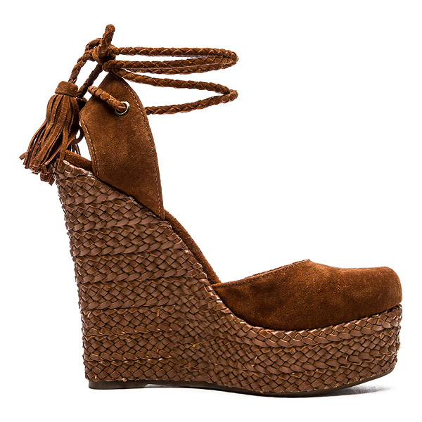 SCHUTZ Eleanor wedge - Suede upper with rubber sole. Braided leather wrapped...