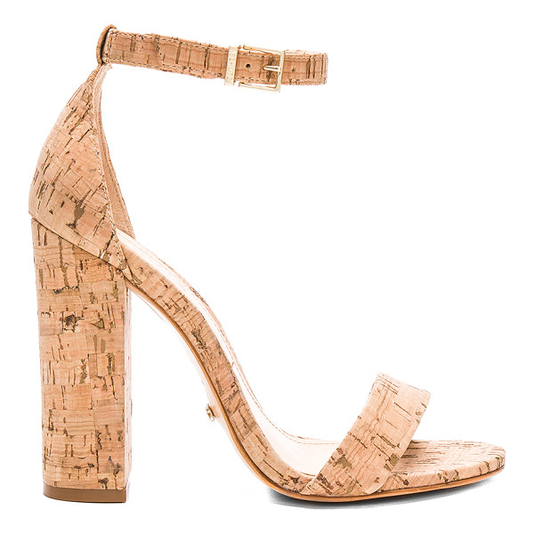 "SCHUTZ Enida Heel - ""Leather lined cork upper with leather sole. Ankle strap..."