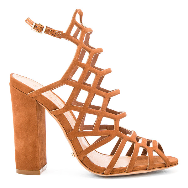 SCHUTZ Jaden Heel - Leather upper and sole. Ankle strap with buckle closure....