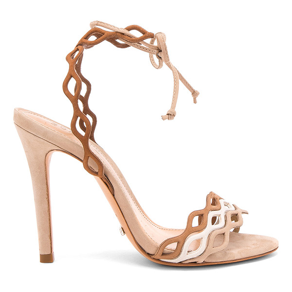 "SCHUTZ Jaffy Heel - ""Leather upper and sole. Wrap ankle with tie closure...."