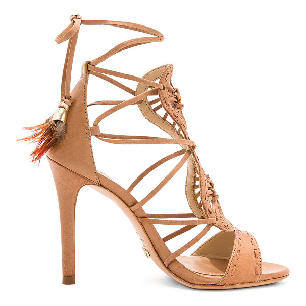 """SCHUTZ Lilliana Heel - """"Leather upper and sole. Lace-up sides with wrap tie..."""