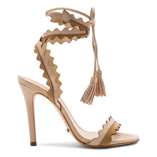 """SCHUTZ Lisana Heel - """"Suede upper with leather sole. Wrap ankle with fringed..."""