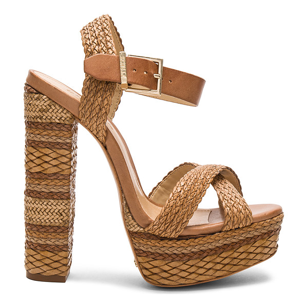 """SCHUTZ Lorah Heel - """"Woven leather and leather upper with leather sole. Ankle..."""