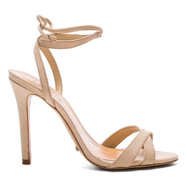 SCHUTZ Lucie Heel - Leather upper and sole. Wrap ankle with tie closure. Heel...