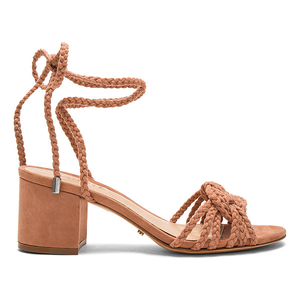 "SCHUTZ Marlie Sandal - ""Braided textile upper with leather sole. Wrap ankle with..."