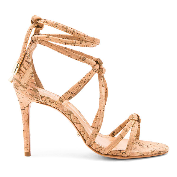 """SCHUTZ Nadira Heel - """"Man made upper with leather sole. Wrap ankle with tie..."""