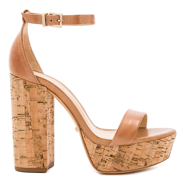 "SCHUTZ Riggs Platform - ""Leather upper and sole. Ankle strap with buckle closure...."