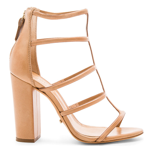 SCHUTZ Sansa Heel - Leather upper and sole. Back zip closure. Heel measures...