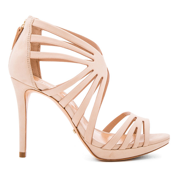 SCHUTZ Yasmine Heel - Leather upper and sole. Caged cut-out detail. Back zip