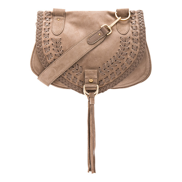 SEE BY CHLOE Crossbody Bag - Suede and leather exterior with canvas lining. Flap top