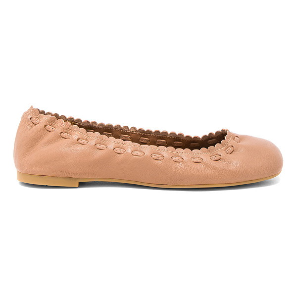 SEE BY CHLOE Jane Flat - Leather upper with rubber sole. Elasticized slip-on...
