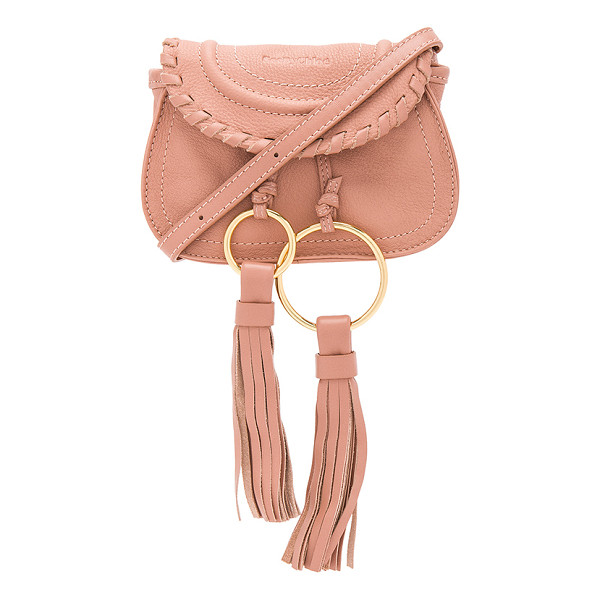 "SEE BY CHLOE Polly Mini Crossbody Bag - ""Leather exterior with canvas lining. Flap top with..."