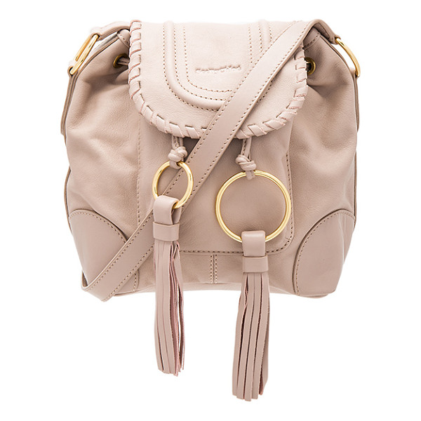 SEE BY CHLOE Polly Shoulder Bag - Leather exterior with fabric lining. Flap top with magnetic...