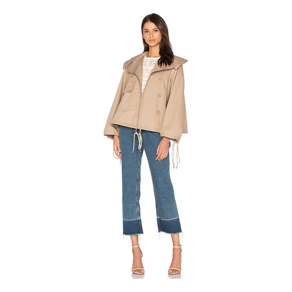 SEE BY CHLOE Short Trench Coat - 100% cotton. Dry clean only. Double breasted button front...