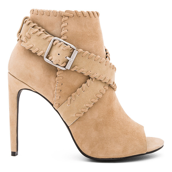 SENSO Omei II Heel - Suede upper with man made sole. Wrap ankle strap with