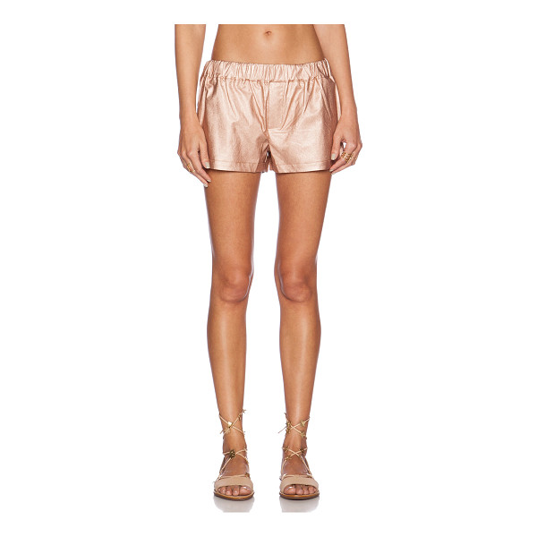 SHADES OF GREY BY MICAH COHEN Faux leather gym short - 60% polyurethane 40% viscose. Dry clean only. Shorts...