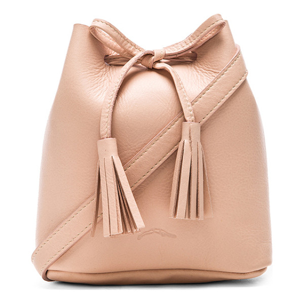 SHAFFER The Greta Bucket Bag - Leather exterior with suede lining. Measures approx 6 W x 7...