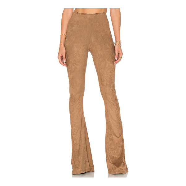 SHOW ME YOUR MUMU Bam Bam Bell Pants - Polyamide blend. Dry clean only. Elastic waist. Faux suede...