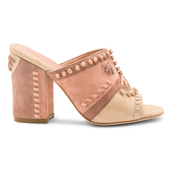 SIGERSON MORRISON Philip Heel - Suede upper with leather sole. Slip-on styling. Knotted and...