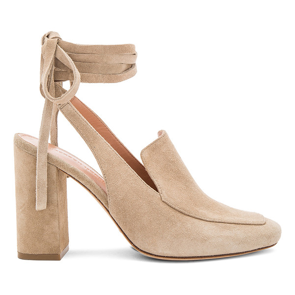 SIGERSON MORRISON Posie Heel - Suede upper with leather sole. Wrap ankle with tie closure....