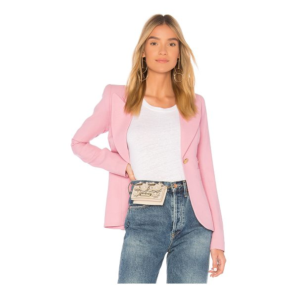 SMYTHE Duchess Breast Cancer Awareness Blazer - Poly blend. Dry clean only. Button front closure. Padded...