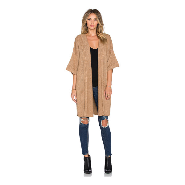 SOH Cozy hood poncho - 55% baby camel 45% nylon. Dry clean only. Open front....