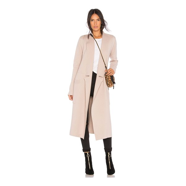 SOIA & KYO Annabelle Trench Coat - 80% cotton 20% wool. Hand wash cold. Open front. Side patch...