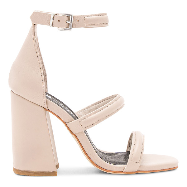 SOL SANA Aubrey Heel - Leather upper with man made sole. Ankle strap with buckle
