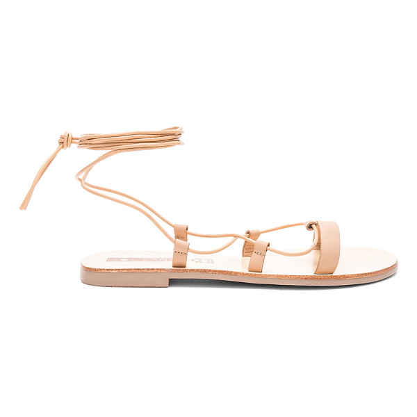 SOL SANA Mia Sandal - Leather upper with rubber sole. Lace-up front with wrap tie...
