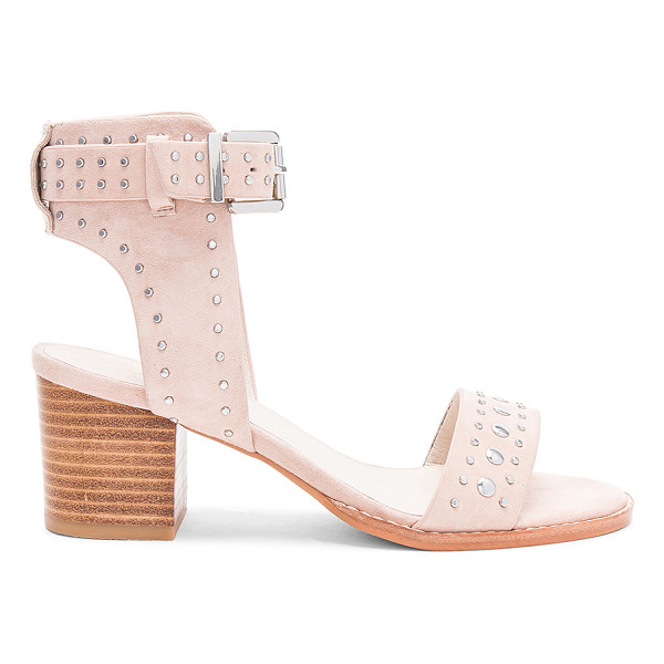 SOL SANA Porter Heel - Suede upper with man made sole. Ankle strap with buckle...